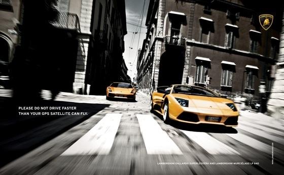 Ici, Lamborghini vise un public masculin, accro à l'adrénaline et à la vitesse - son cœur de cible.
