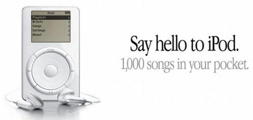 Ce slogan, parfaite expression d'un bénéfice attractif et immédiatement identifiable a contribué au succès de l'iPod.
