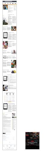 La page produit du Kindle d'Amazon face à la page d'accueil de Netflix (8.5 fois plus courte)